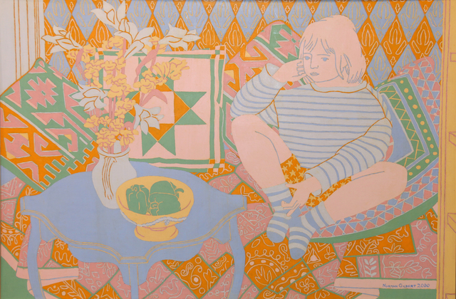 , 'Child, Flowers and Cushions,' 1999, Tatha Gallery