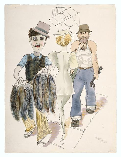 , 'New York Street Scene (Furrier),' 1934, Galerie St. Etienne
