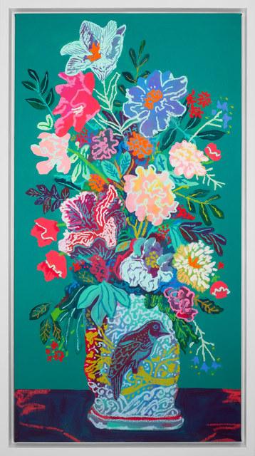 , 'Floral on Dark Green,' 2017, Rebecca Hossack Art Gallery