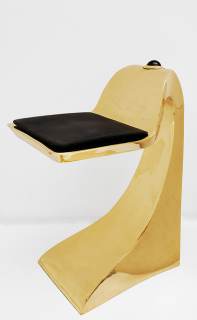 , 'Gold shark stool with Obsidian,' 2008, Galerie Loft