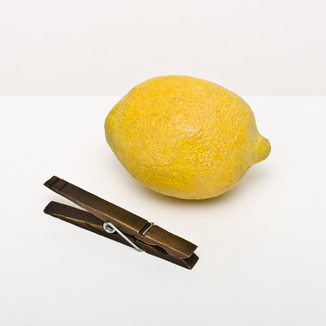 , 'lemon and clothespin,' 2015, Lora Reynolds Gallery