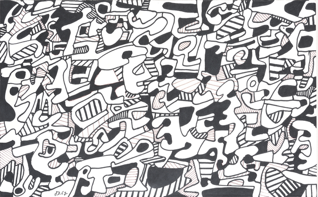 Jean Dubuffet, 'Texte Logologique Viii (8  January 1967)', 1967, Drawing, Collage or other Work on Paper, Marker on paper, DIGARD AUCTION