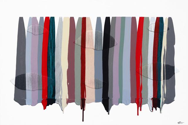Raul de la Torre, 'Fils   Colors CCXLVI', 2015, Painting, Mixed Media, Acrylic, Thread on Canvas, Artspace Warehouse