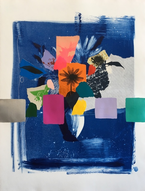 , 'Indigo Bouquet (orange flower),' 2018, Kahn Gallery
