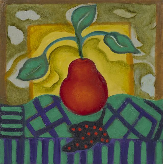 Frances Cox, 'Pear on Green Cloth', 2019, Hofheimer Gallery