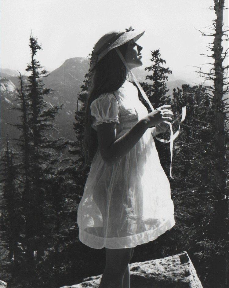 "FRANCESCA WOODMAN ""Untitled (Francesca in High School, with Bonnet) Boulder, Colorado"", 1972-1975"