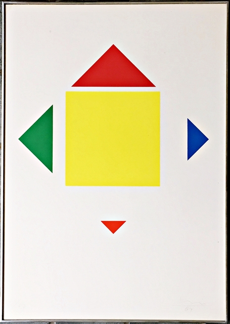 Max Bill, 'Untitled Mid Century Modern Geometric Abstraction', 1964, Alpha 137 Gallery