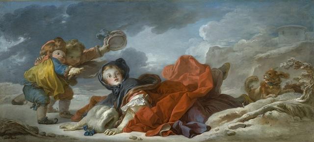 Jean-Honoré Fragonard, 'Winter', ca. 1755, Los Angeles County Museum of Art