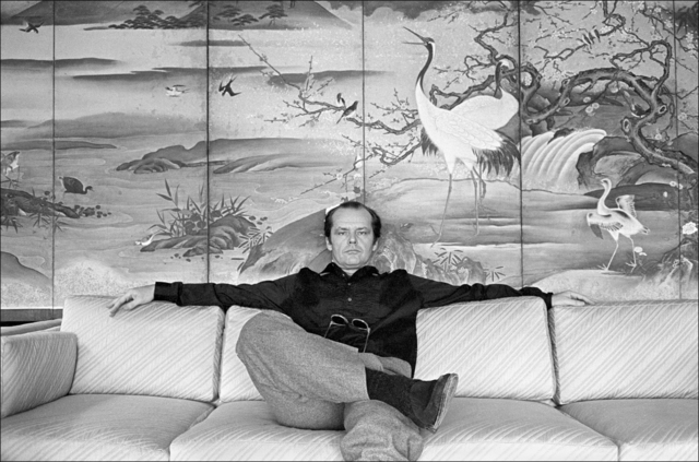 , 'Jack Nicholson on the sofa in his room at the Carlyle Hotel,' 1981, Madelyn Jordon Fine Art