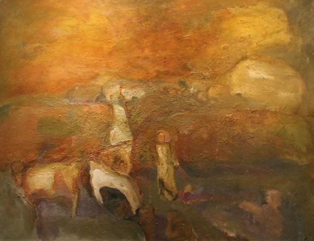 Sheila Fell, 'Cows on Brayton Road', 1966, Castlegate House Gallery