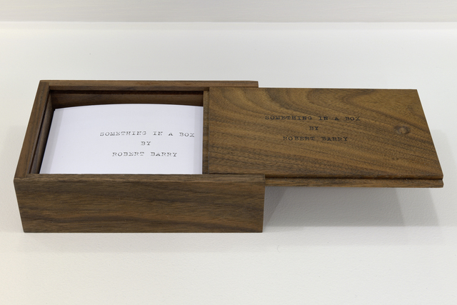 , 'SOMETHING IN A BOX,' 2014, mfc - michèle didier