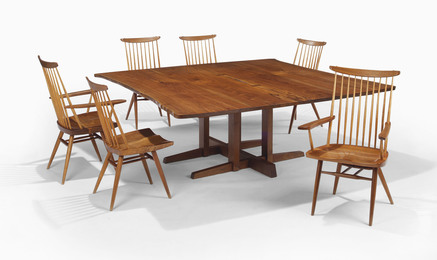 A 'Frenchman's Cove' Dining Table and Six 'New' Chairs