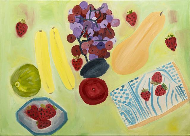 Paola Vega, 'Bananas aplastadas', 2020, Painting, Oil on canvas, Calvaresi