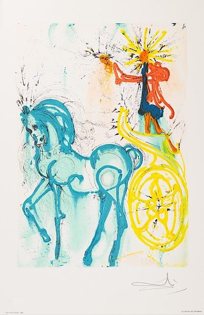 Salvador Dalí, 'Le Cheval de Triomphe (Horse of Triumph)', 1983, Art Lithographies