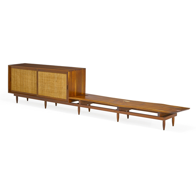 Phil Powell, 'Fine custom cabinet and bench on platform, New Hope, PA', Rago