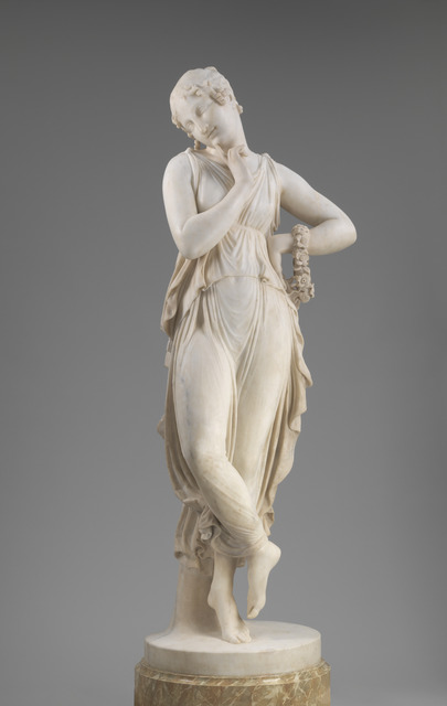 Antonio Canova, 'Dancer with Finger on Chin', model 1809/1814-carved 1819/1823, National Gallery of Art, Washington, D.C.