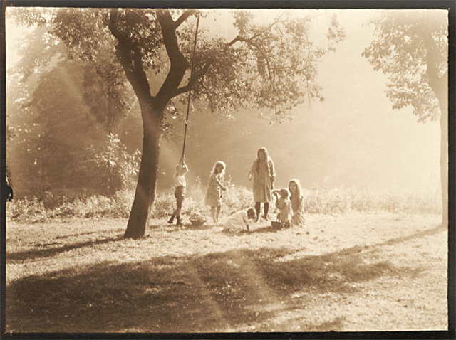 Léonard Misonne, 'Picking Fruit off the Ground', 1920s, Contemporary Works/Vintage Works