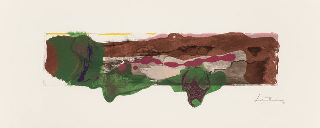 Helen Frankenthaler, 'A Page from a Book II, from This is Not a Book', 1997, Print, Etching and aquatint in colors on TGL handmade paper, Hamilton-Selway Fine Art
