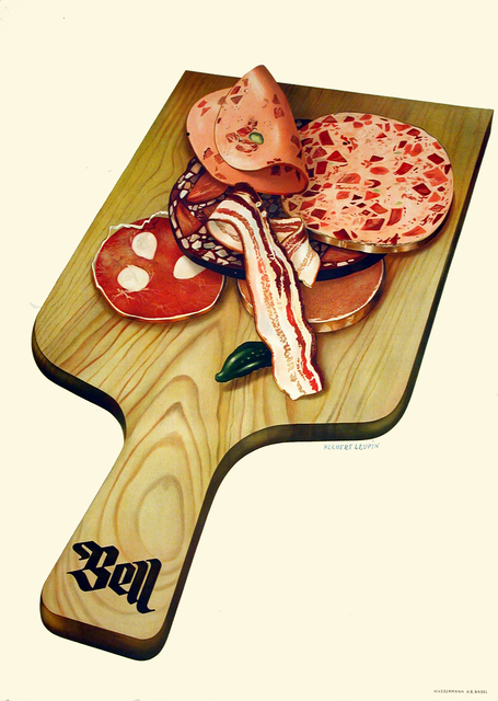 Herbert Leupin, 'Bell - Charcuterie Board - Kitchen - Meat', 1939, Omnibus Gallery