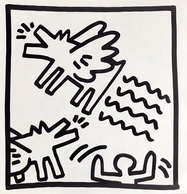 Keith Haring, 'Keith Haring (untitled) Flying Dogs lithograph 1982 ', 1982, Lot 180