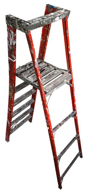 Jennifer Williams, 'Large Folding Ladder: Orange with Platform Open', 2012, Robert Mann Gallery