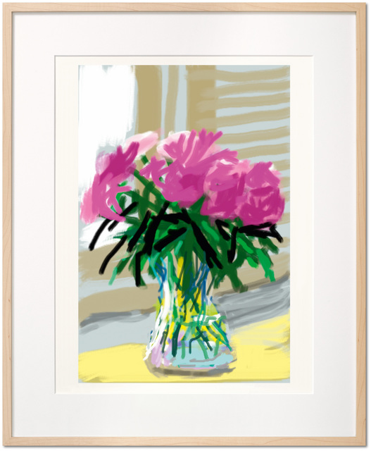 David Hockney, 'David Hockney. My Window. Art Edition (No. 1–250) 'No. 535', 28th June 2009', 2019, Print, Hardcover, 15.2 x 19.7 in., 248 pages, signed by David Hockney; with a signed print of the iPhone drawing 'No. 535', 28th June 2009, 8-color inkjet print on cotton-fiber archival paper, 17 x 22 in., TASCHEN