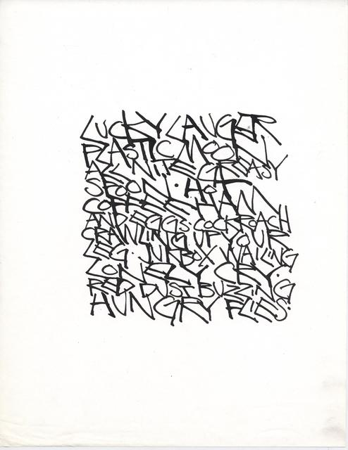 , 'Untitled (Lucky Lauger),' 1967, Anglim Gilbert Gallery