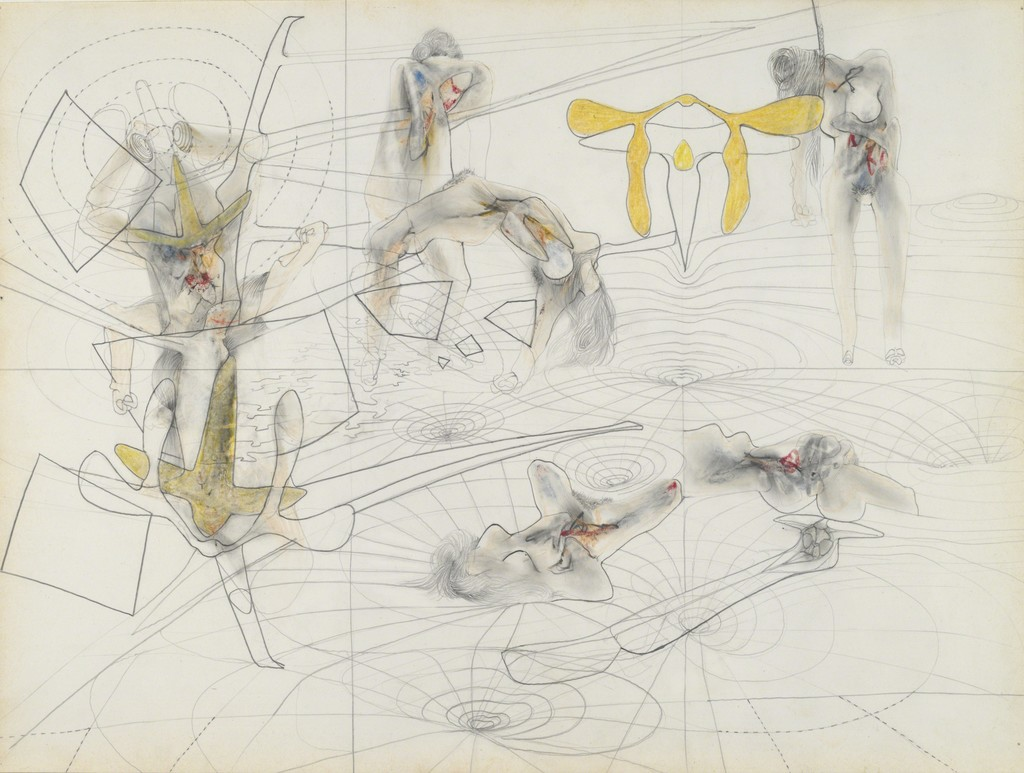 Matta, Untitled, 1943–44. Graphite and colored crayon on paper. Yale University Art Gallery, Gift of Thomas T. Solley, B.A. 1950. Matta © 2017 Artists Rights Society (ARS) New York/ADAGP, Paris