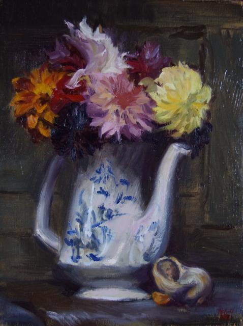 Megan Euell, 'Dahlias and Seashells ', 2018, Vanessa Rothe Fine Art