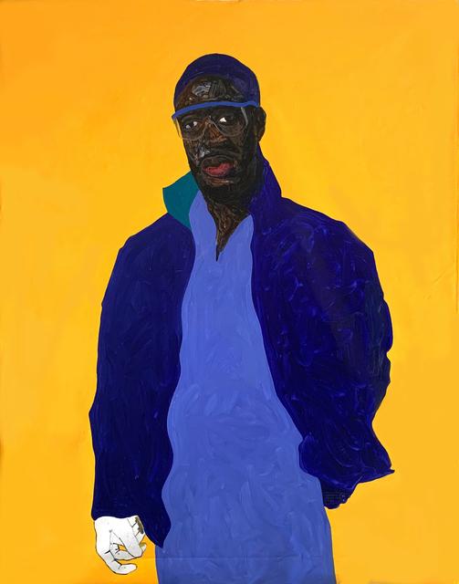 Amoako Boafo, 'Steve Mekoudja', 2019, Painting, Oil on canvas, Mariane Ibrahim Gallery
