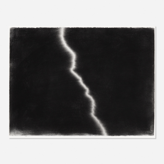 Karl Haendel, 'Lightning #10', 2006, Drawing, Collage or other Work on Paper, Charcoal on paper, Rago/Wright