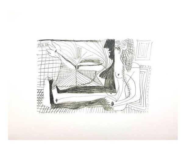 """Pablo Picasso, 'Lithograph """"Le Goût de Bonheur XIII"""" after Pablo Picasso', 1970, Galerie Philia"""