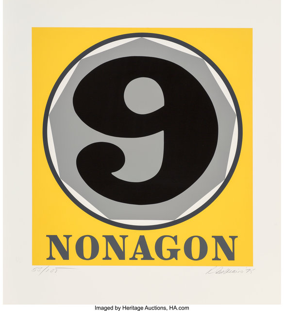 Robert Indiana, 'Nonagon, from Polygons', 1975, Heritage Auctions