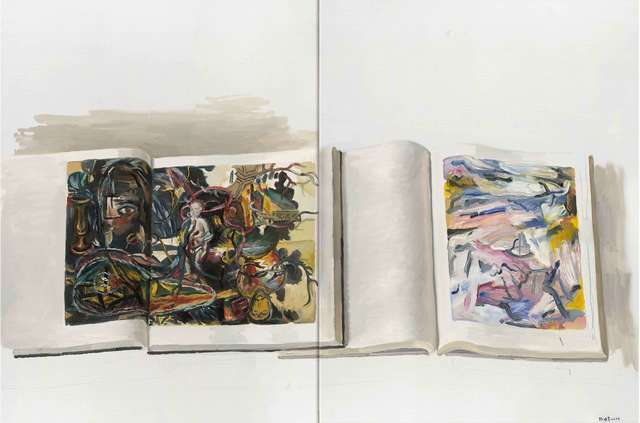 , '德库宁与施纳伯尔之一 De Kooning & Schnabel No.1,' 2014, Shanghai Gallery of Art