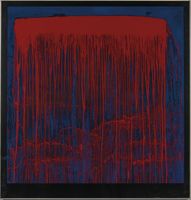 Pat Steir, 'Red and Blue Berlin Waterfall', 1993, Skinner