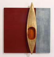 , 'Gold Boat, Red Board Background,' 2014, Seager Gray Gallery