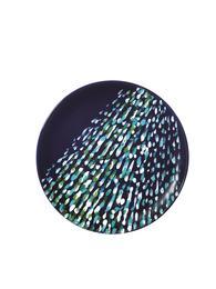 Plate in enameled ceramic
