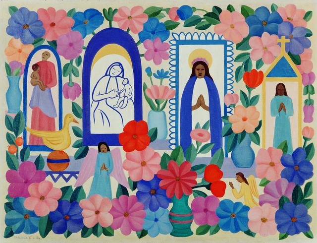 , 'Tapestry Tarsila do Amaral - A Religião III,' 2016, By Kamy