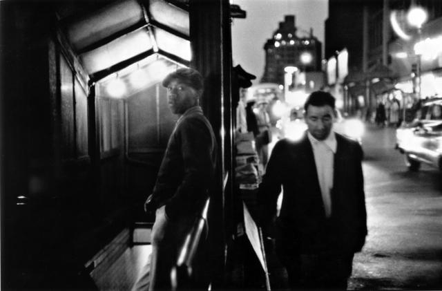 , 'Black Man, White Man, Times Square,' 1956, Bruce Silverstein Gallery