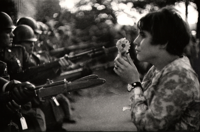, 'Young girl holding a flower, demonstration against the war in Vietnam, Washington.,' 1967, Atlas Gallery