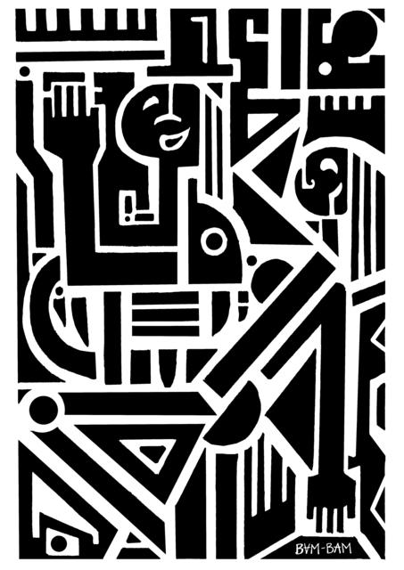 , 'Square Dancers (BLACK),' 2019, Bridgeman Editions