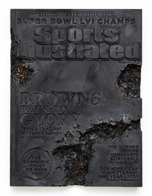 , 'Steel Eroded Sports Illustrated Magazine,' 2019, Galerie Ron Mandos