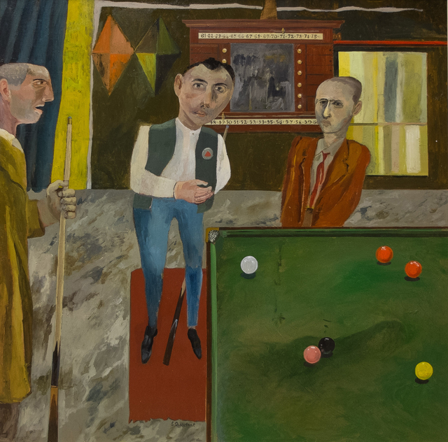 , 'The Snooker Players,' 2017, Sladers Yard
