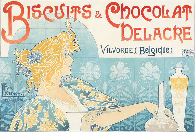 Privat Livemont, 'Biscuits & Chocolat Delacre.', 1896, Rennert's Gallery