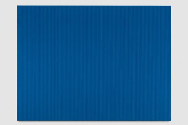 , 'Untitled (Peacock Blue Polyurethane),' 2017, PRAZ-DELAVALLADE