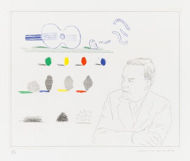 David Hockney, 'The Poet (Wallace Stevens)', 1976-1977, Christopher-Clark Fine Art