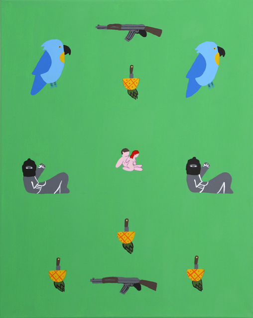 , 'Sin título (piña-cuchillo). De la serie Cómase la fruta,' 2017, Celaya Brothers Gallery