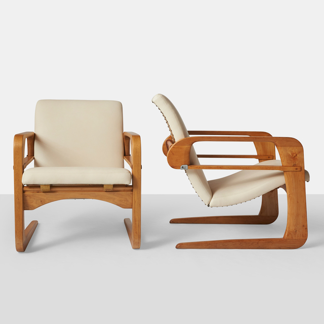 ", 'Kem Weber, Pair of Reclining ""Airline"" Chairs,' ca. 1934, Almond & Co."