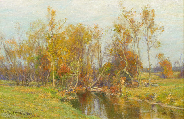 Hugh Bolton Jones, 'Autumn Trees along a Stream ', 19th -20th Century, Vose Galleries