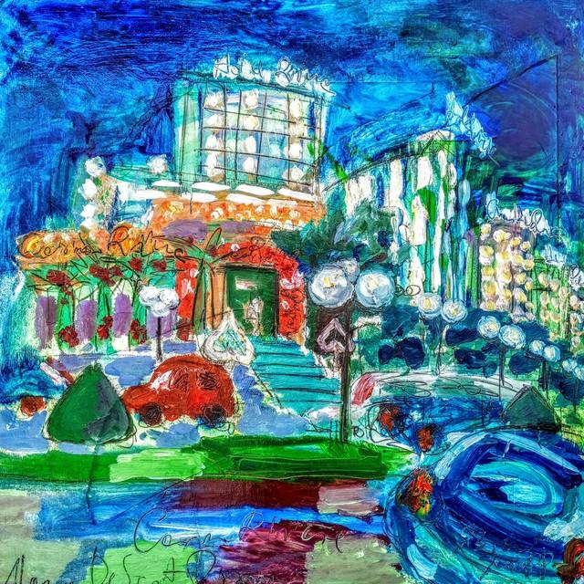 , 'Water series summer 2019 - plein air in situ paintings, Casino Riviera, night,' 2019, Noravision Gallery